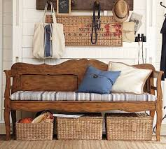 Church Pew Style Bench Darby Entryway Bench Potterybarn 499 Not I U0027ll Make One From A