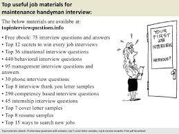 sample resume for handyman position handyman caretaker sample