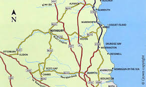 map of rothbury self guided walks in northumberland rothbury general information