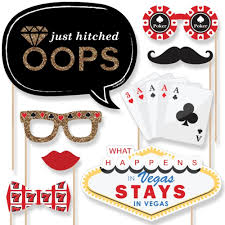 Photo Booth Accessories Las Vegas Photo Booth Props Kit 20 Count Decorations Amazon