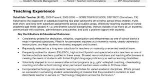 Substitute Teacher Resume Example by Resume Substitute Teacher Sample 15 Best Cover Letter Images On