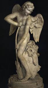 cupid making a bow out of the club of hercules by edmé bouchardon