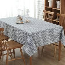 cotton linen print check grid tablecloth cover table deco black