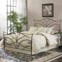 bedroom luxury black iron canopy bed with gold silver and black