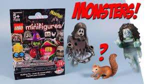lego minifigures series 14 monsters mystery packs opening youtube