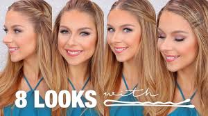8 hairstyles using bobby pins tutorial youtube