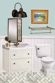 Benjamin Moore Palladian Blue Bathroom The Styled Life Bathroom Progress The Reveal