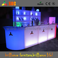 furniture led light led portable bar counter light up bar table
