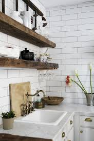 50 gorgeous reclaimed wood wall shelves for beautiful kitchen