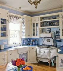 blue and white farmhouse kitchen designs charming farmhouse