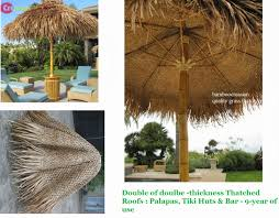 quality bamboo and asian thatch grass and palm palapa thatched