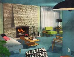 mid century modern fireplace living room design of mid century