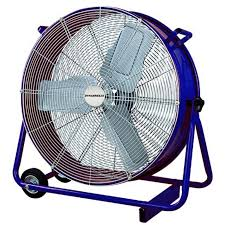 how to cool a warehouse with fans fan drum industrial dynabreeze 900mm blue 190 23 02322 bunnings