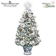 kinkade winter splendor illuminated tabletop tree