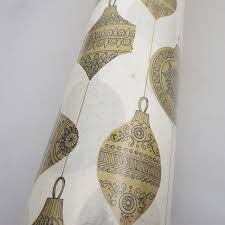 vintage christmas wrapping paper rolls vintage 1960s christmas wrapping paper roll gold black
