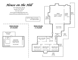 maps floor plans house on the hill main facility