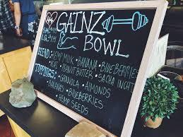 Backyard Bowl Santa Barbara Off The Menu Gainz Bowl Yelp