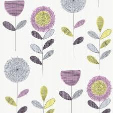 floral sketch wallpaper contemporary wallpaper by graham u0026 brown