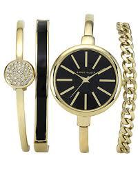 set of gold klein women s interchangeable gold tone bangle bracelets