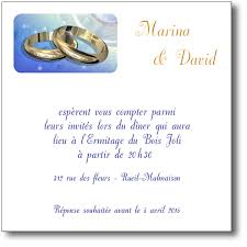 modele carte mariage carte d invitation mariage alliances or coordonnée au faire part