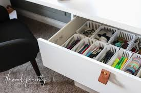 Organize A Desk How To Organize Desk Drawers The Wood Grain Cottage