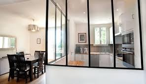 cloison vitree cuisine salon cloison vitree pour cuisine fermee verriere