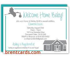 welcome home baby shower welcome home baby shower invitation wording free card design ideas