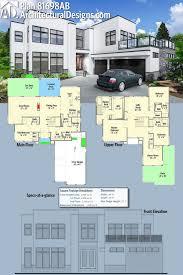 just garage plans plan 81698ab stunning modern house plan modern house plans