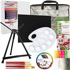 us art supply artist paint u0026 easel travel set with 12 color