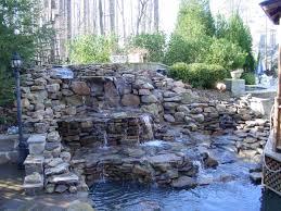 backyard waterfalls atlanta water landscaping water feature