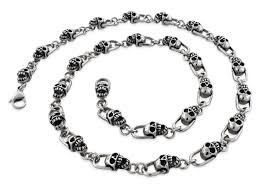 skull link necklace images Stainless steel skull necklace necklace wallpaper jpg
