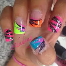 best 25 bright nails ideas on pinterest bright acrylic nails