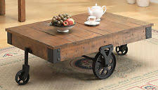 Cottage Coffee Table Coaster 701458 Brown Distressed Country Wagon Coffee Table Ebay