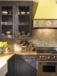Distressed Painted Kitchen Cabinets Houzz - Distress kitchen cabinets
