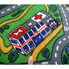 Kids Race Track Rug by Car Play Mat Rug Creative Rugs Decoration