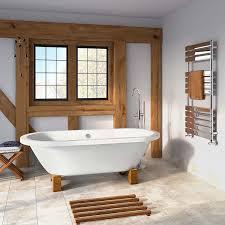 traditional small roll top freestanding double ended bath with