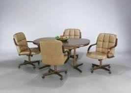 rolling dining room chairs dining room chairs with casters foter