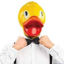 Latex Halloween Costumes Rubber Ducky Face Duck Mask Latex Halloween Costume Party