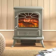 burning effect electric fire stove heater free standing fireplace