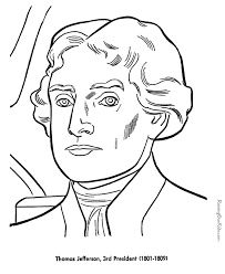 thomas jefferson coloring pages free printable