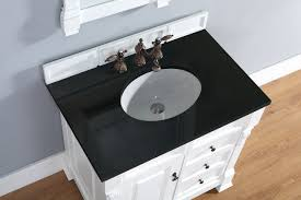 abstron 36 inch white finish single sink traditional bathroom