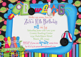 glow in dark invitations a manda creation cosmic bowling printable birthday party collection