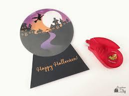 flying witch halloween decoration diy halloween snow globe card bugaboocity