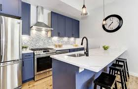 blue kitchen cabinets with granite countertops 33 blue and white kitchens design ideas designing idea