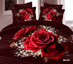 flower 3d 100 cotton bedding set print duvet cover set linen 485