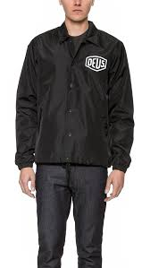 deus ex machina venice la coach jacket in black for men lyst