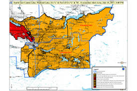 Bc Wildfire Boulder Creek by Area L And H On Evacuation Alert Green Lake Horse Lake Highway