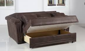 sofa exquisite pull out sofa bed with storage truffle brown