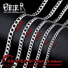 man necklace steel images Stainless steel necklace new twist 4 5mm 5mm 5 5mm 6mm 7mm trendy jpeg