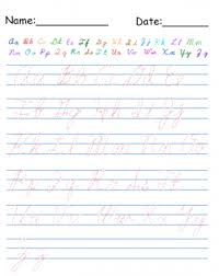 cursive alphabet worksheets worksheets